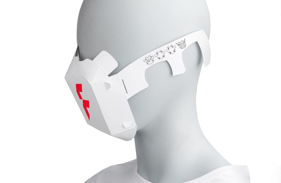 Mund- und Nasenbedeckung aus Papier