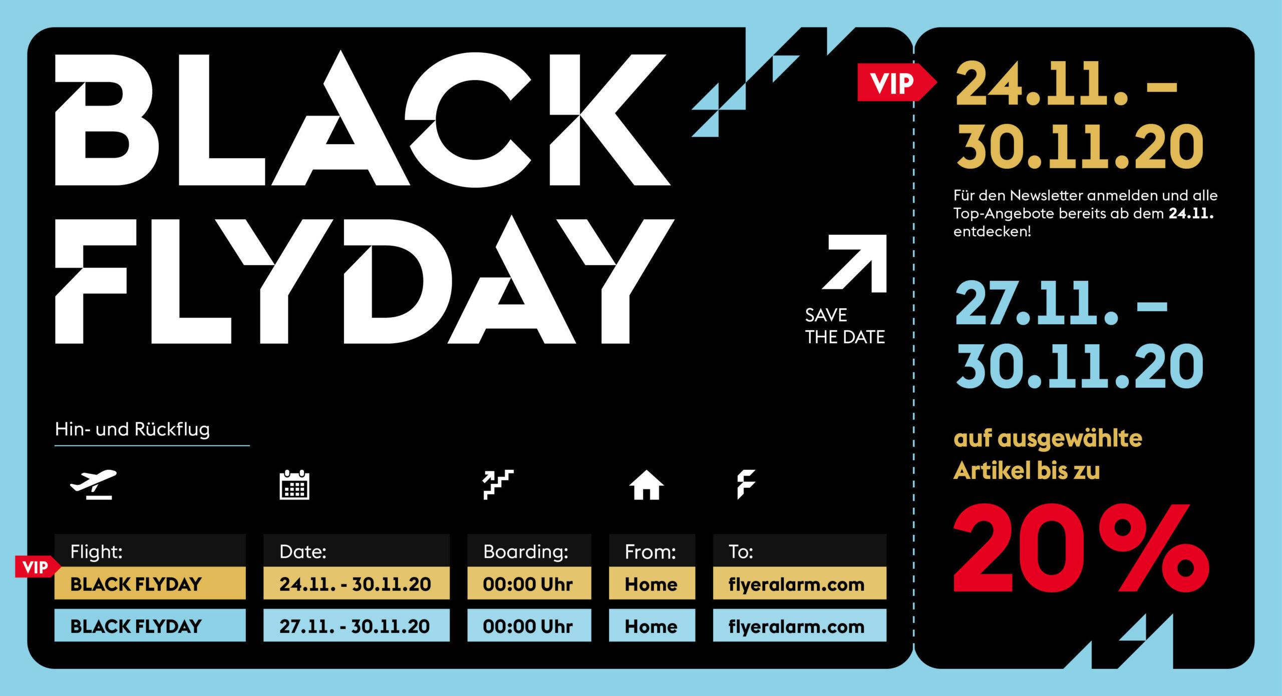 Black Friday Aktion bei FLYERALARM: 20 % Rabatt