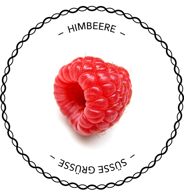 Ertiketten-Vorlage Himbeere
