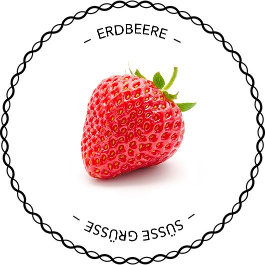 Ertiketten-Vorlage Erdbeere
