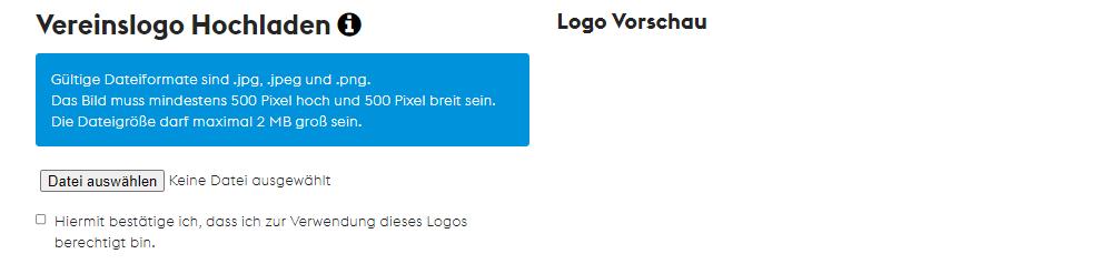 Teamshops erstellen - Logo hochladen