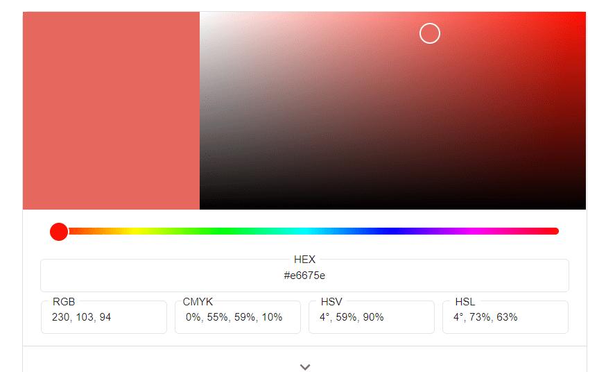 Teamshop erstellen - Colorpicker Farbe wählen