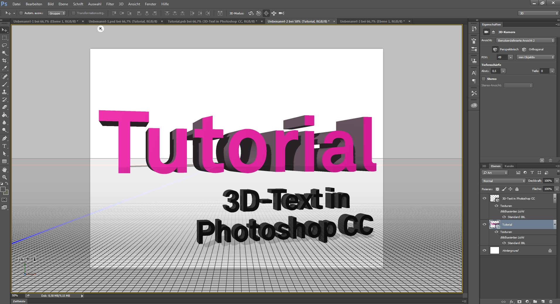 3d Text Erstellen Mit Photoshop Cc Flyeralarm