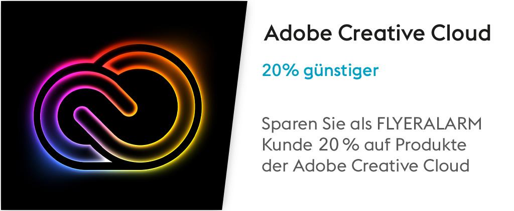 20 % Rabatt auf die Creative Cloud mit FLYERALARM