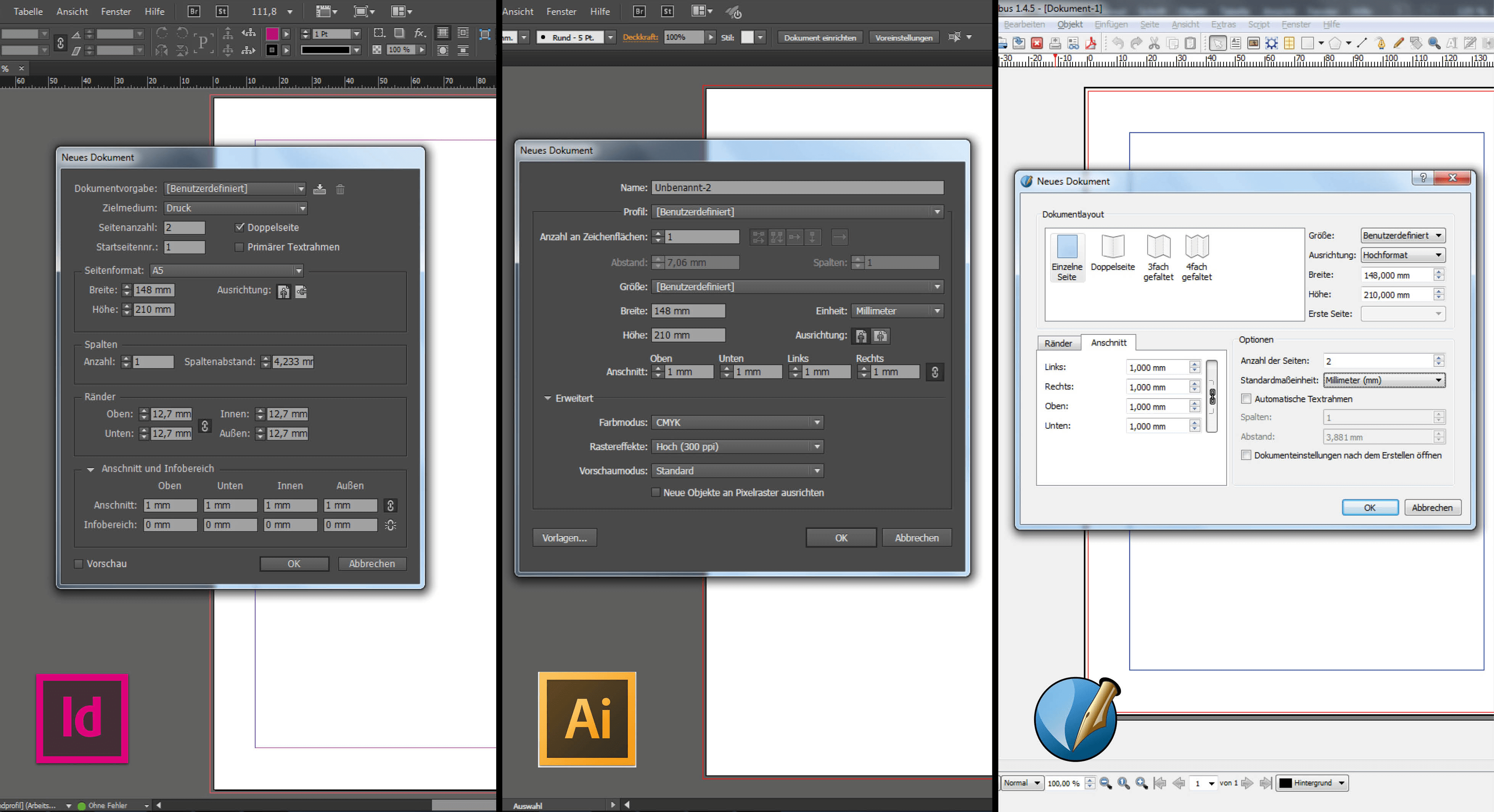 Tutorial Beschnittzugabe Anlegen In Indesign Cc