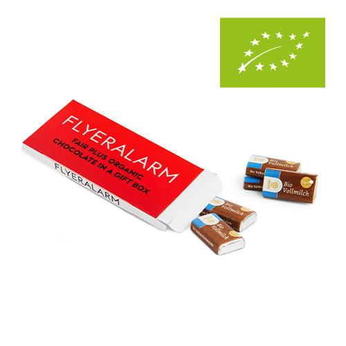 Geschenkbox mit Bio-Schokolade FLYERALARM