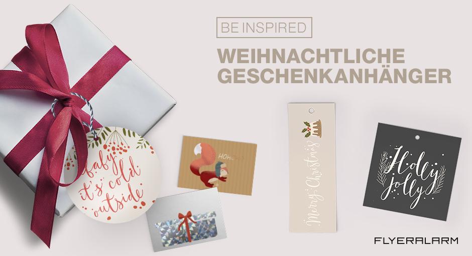 Großartige Geschenkanhänger zu Weihnachten - Flyeralarm - Deutsch