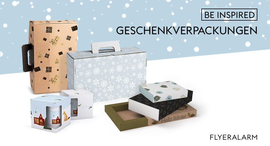 Weihnachtliche Geschenkverpackungen bedrucken