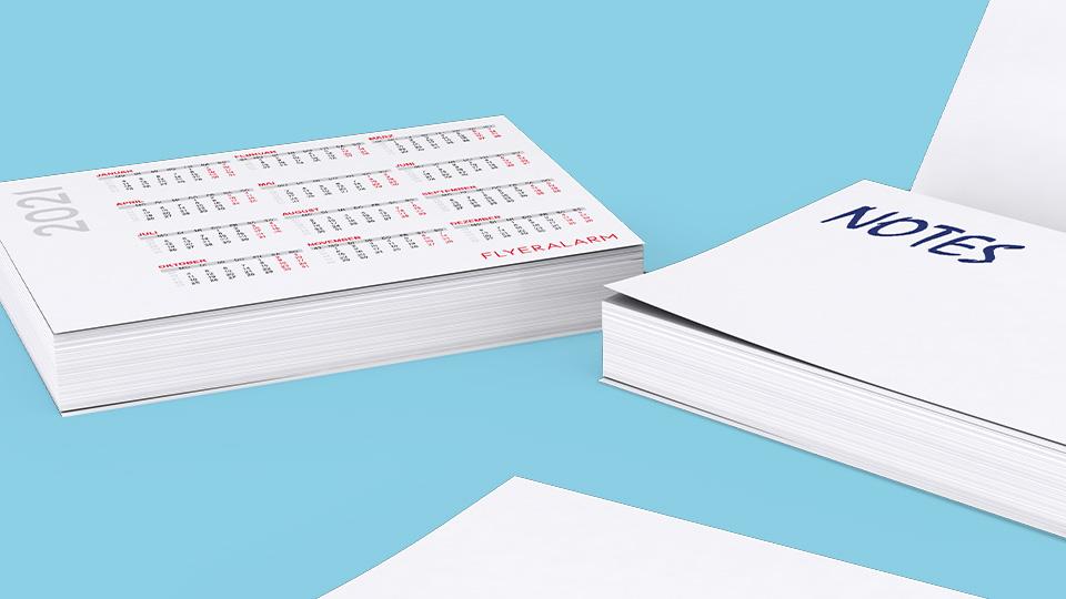 Kalendervorlagen für Haftnotizen