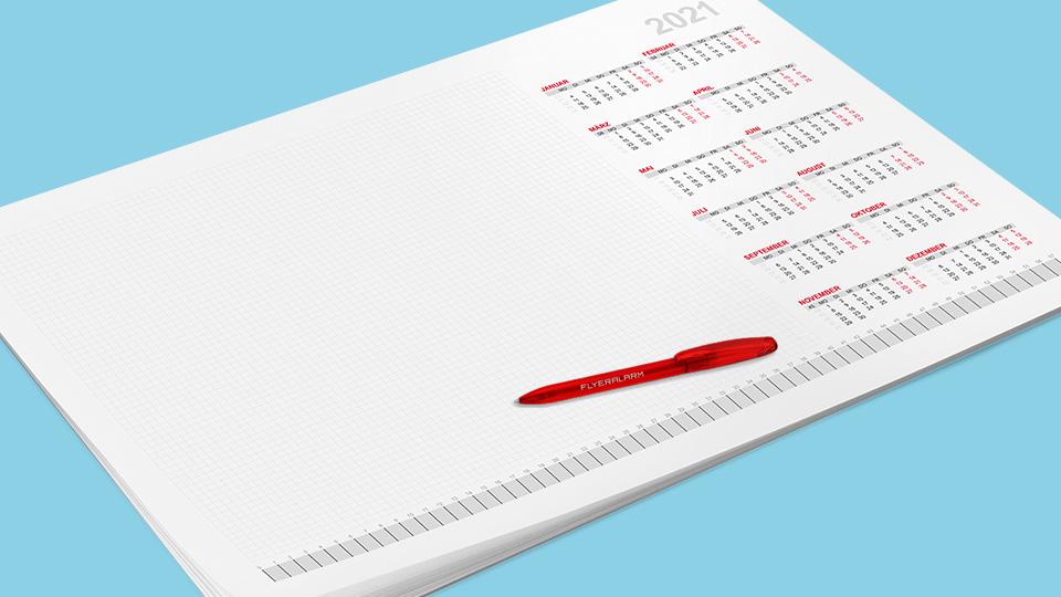 Kalendervorlagen für Schreibtischunterlagen