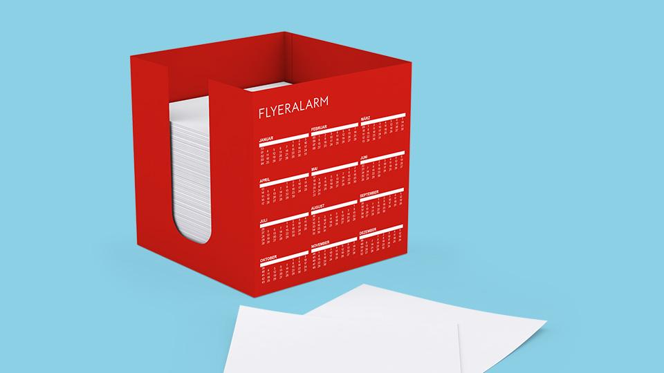 Kalendervorlagen für Zettelbox