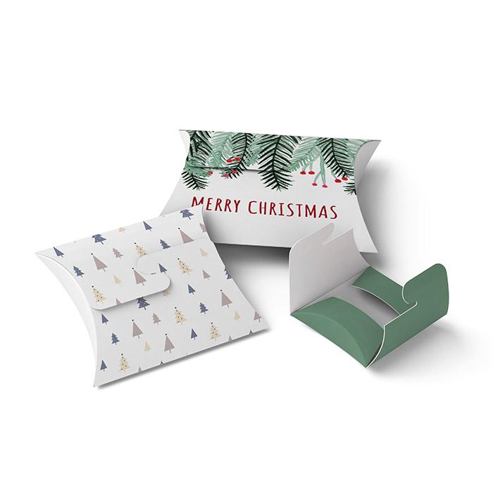Kissenverpackungen mit edlem Schleifenverschluss für Weihnachten