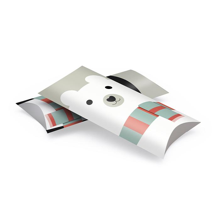 Weihnachtliche Kissenverpackungen