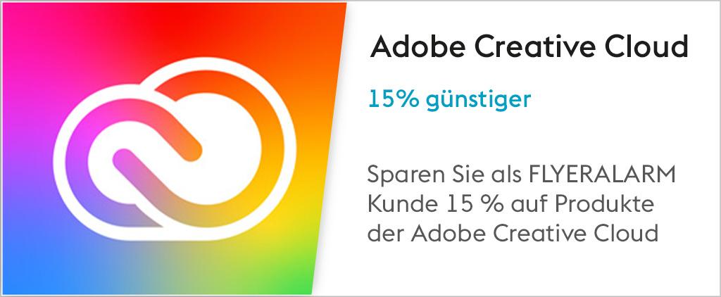 15 % Rabatt bei Adobe mit FLYERALARM