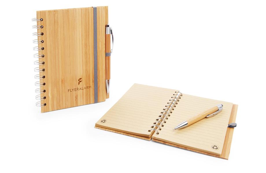 Notizbücher aus Bambus sind nachhaltige Werbemittel
