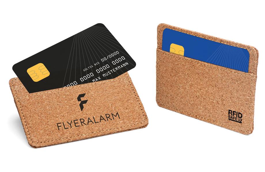 RFID Schutzhüllen Kork als nachhaltige Werbemittel