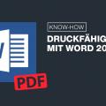 Erstellen einer PDF: Word 2016