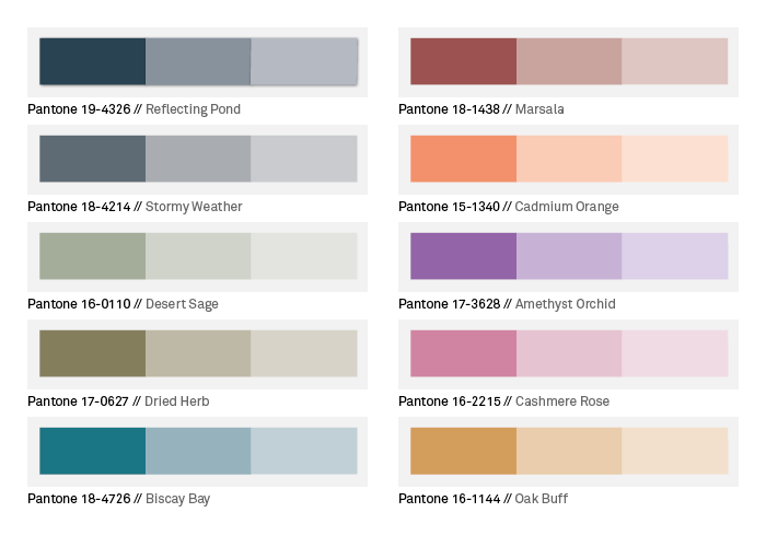 Farben Pantone on trend colours in autumn 2015 the pantone fashion color report