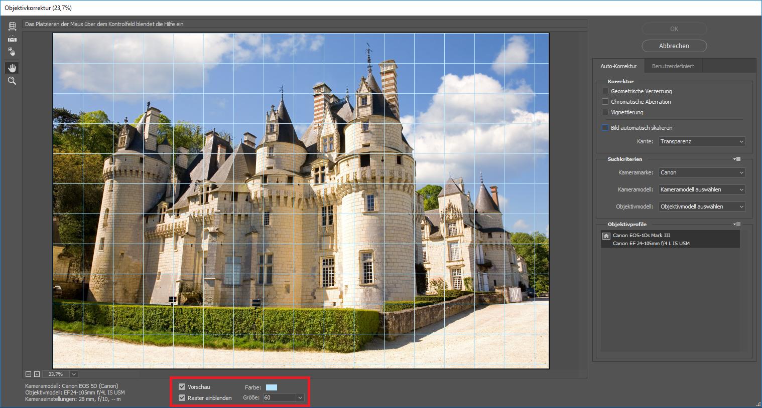 Gebäude entzerren mit Photoshop