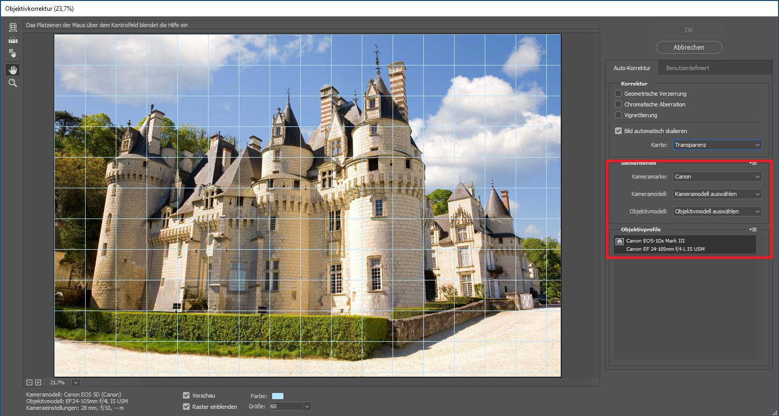 Gebäude entzerren Photoshop