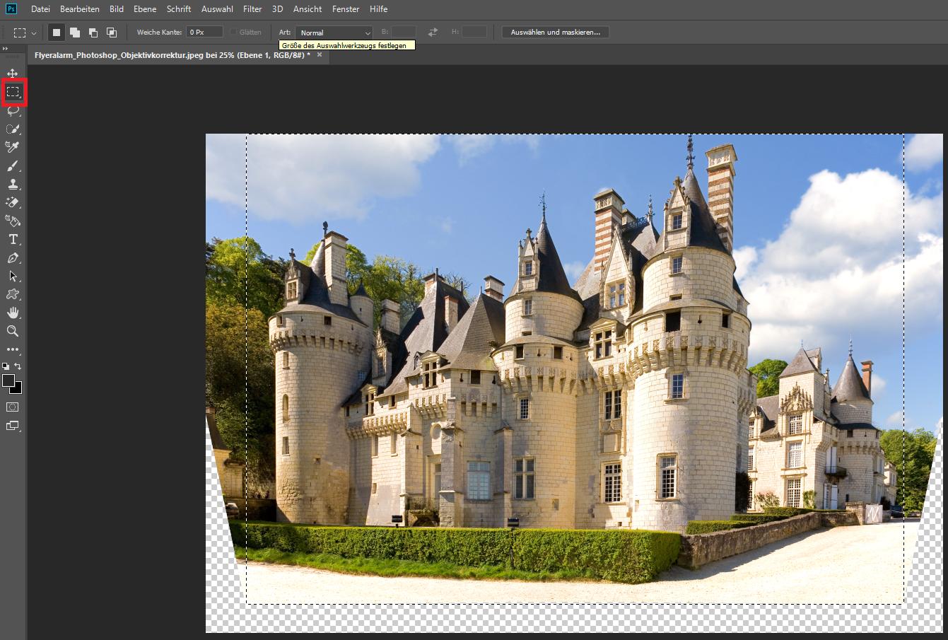 Photoshop Objektivfehler ausgleichen