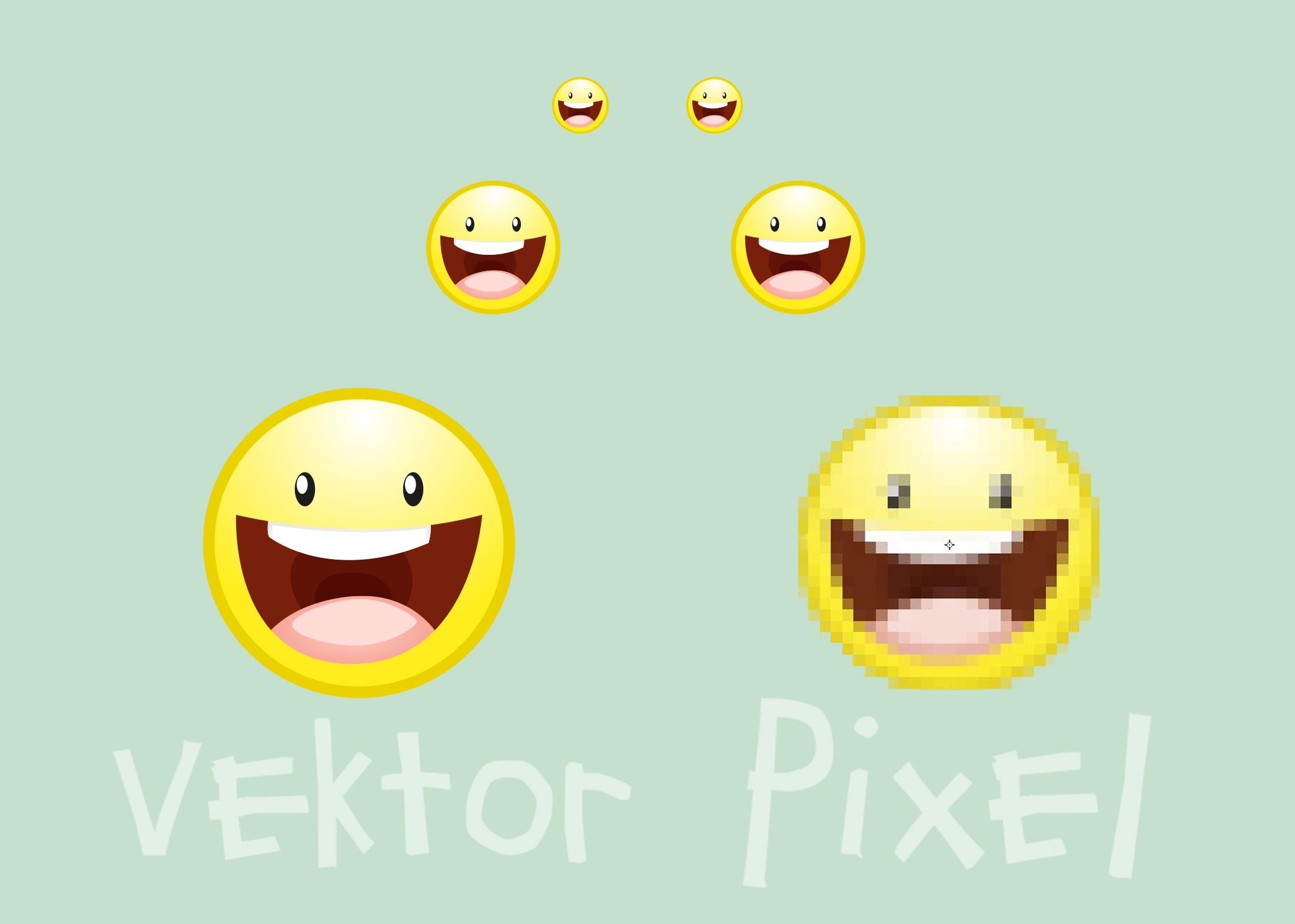 Unterschied Pixel Vektor