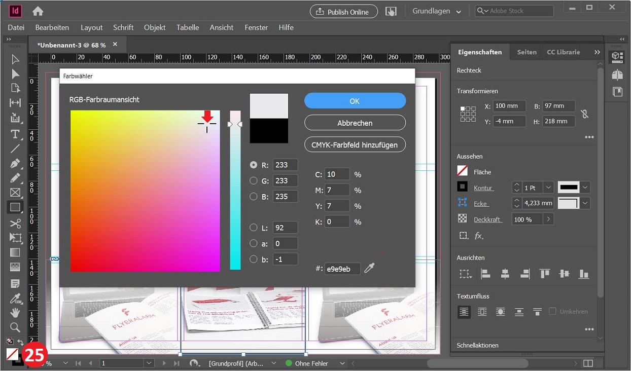 Screenshot 10: Hintergrundfarbe definieren