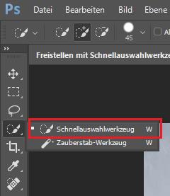 Photoshop Tutorial: Schnellauswahlwerkzeug Shortcut