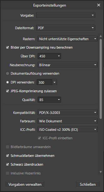Affinity Designer PDF anlegen