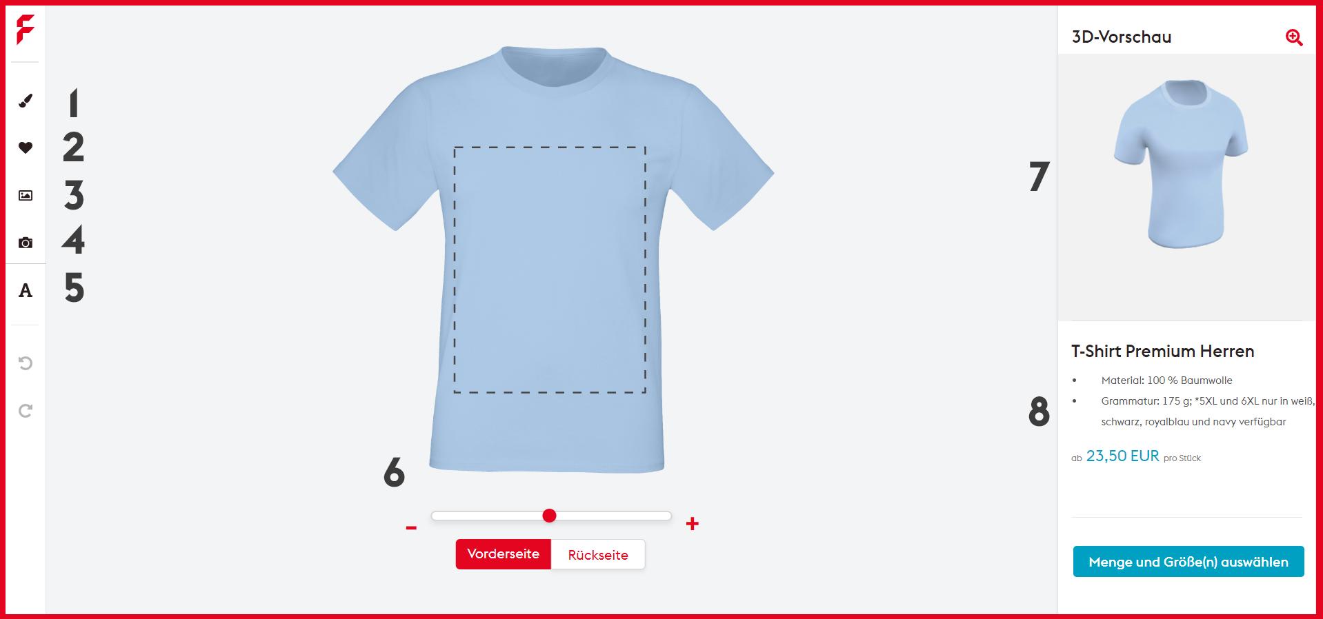 T-Shirt online gestalten