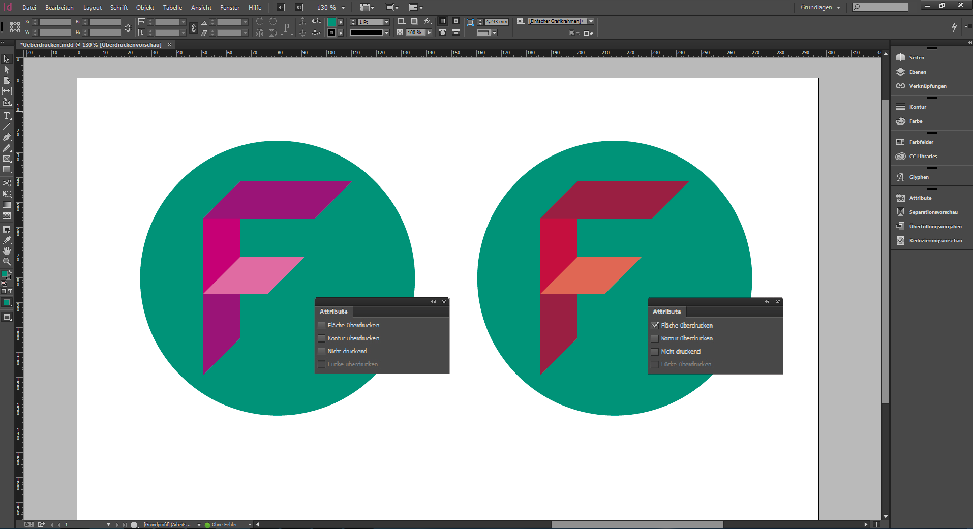 Overprinting in InDesign CC and Illustrator CC