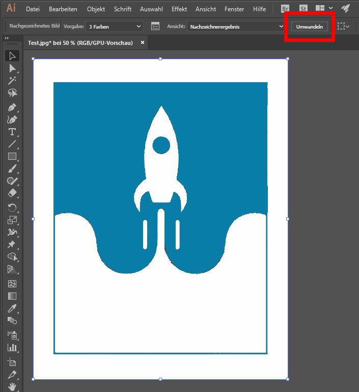 Pixel zu Vektor Illustrator