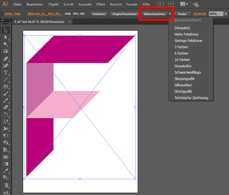 Pixelbilder in Vektorgrafiken umwandeln Illustrator