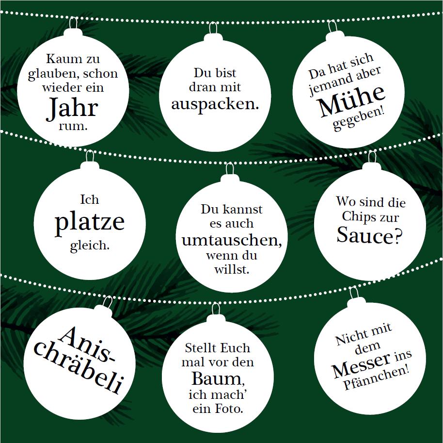 Weihnachtliches Bingo Schweiz