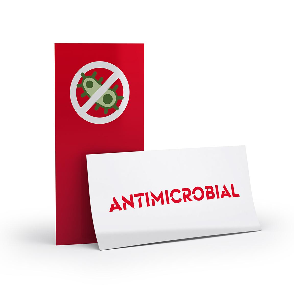 Flyer mit antimikrobieller Beschichtung