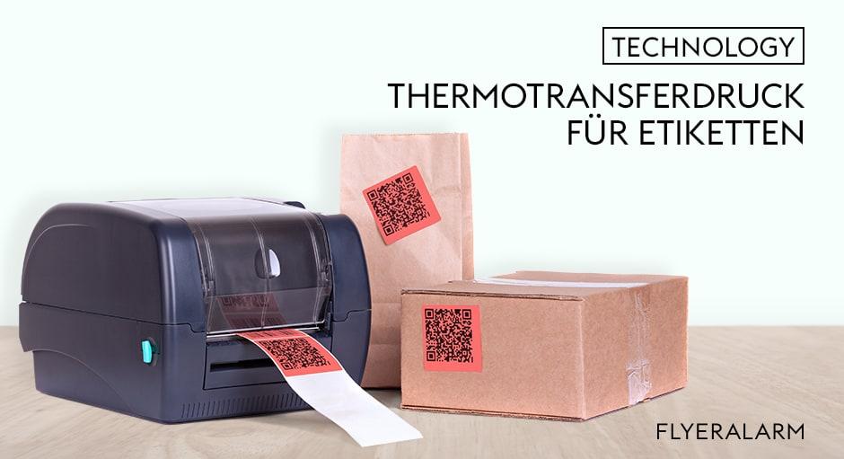 Thermotransferdruck für Etiketten auf Rolle