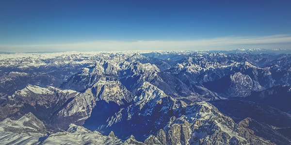 the alps from west to east