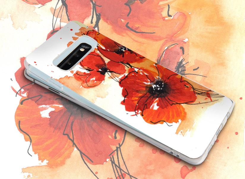 Smartphonehülle mit Mohnblume