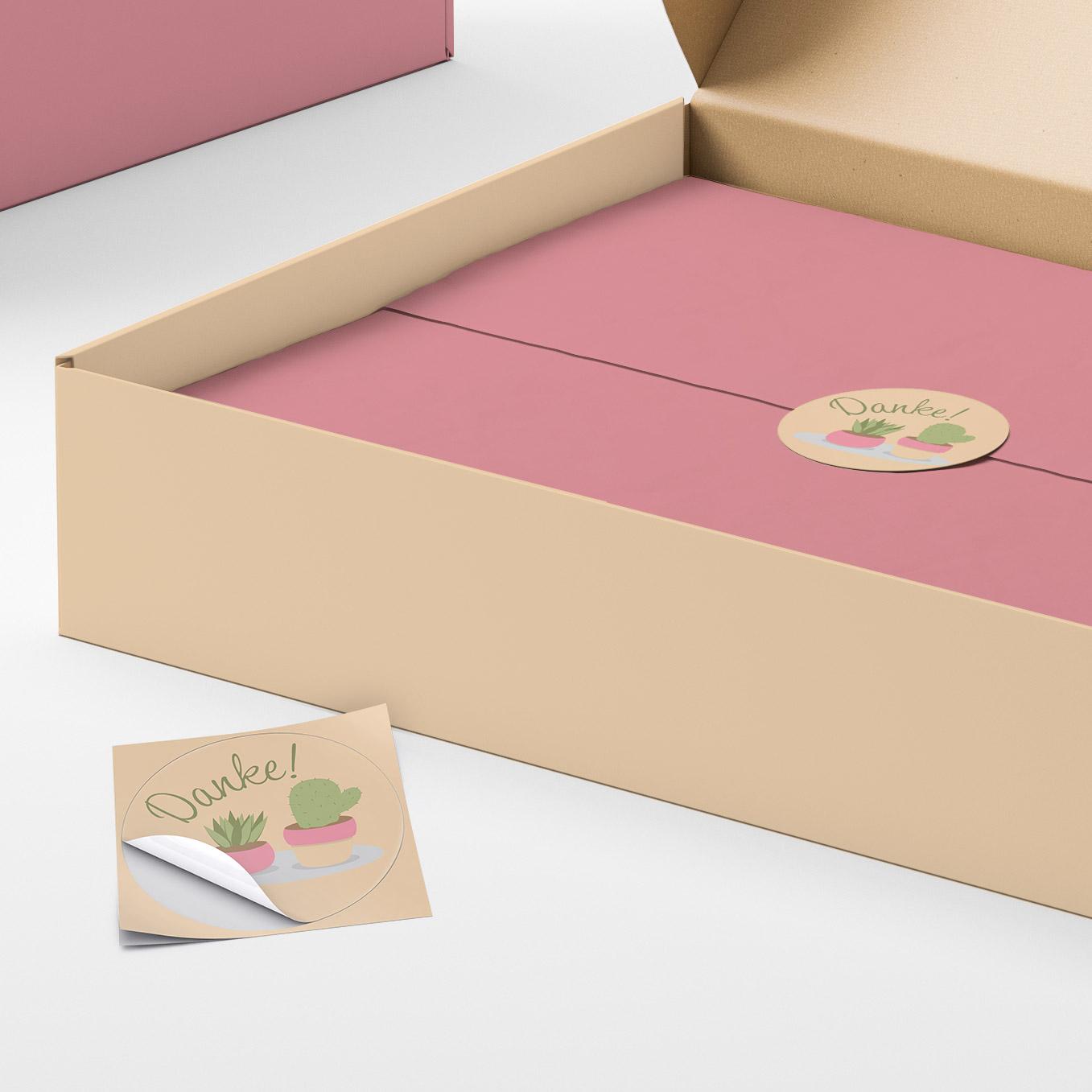 Etiketten als Verpackungsaufkleber