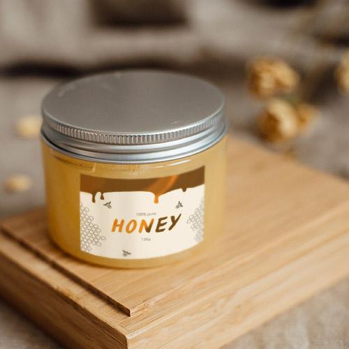 Etiketten mit Goldfolie für Honigglas