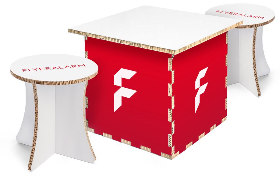 Möbel aus Re-board Wabenkarton