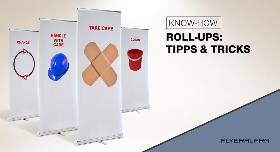 Roll-Ups: Bannerwechsel und Spannfederjustierung