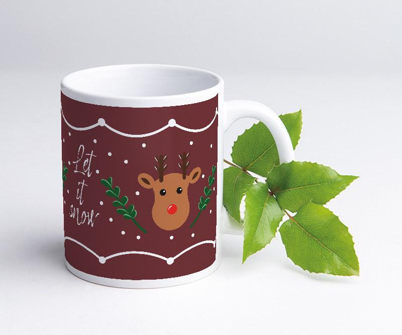 Layoutvorlage für Tassen: Weihnachten