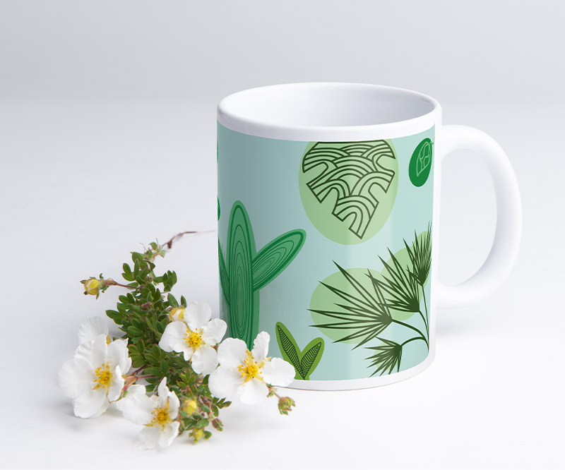 Layoutvorlage für Tassen: Jungle