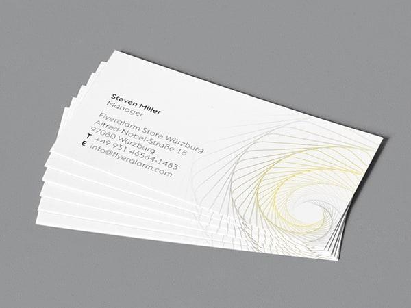 Visitenkarten in den Pantonefarben 2021