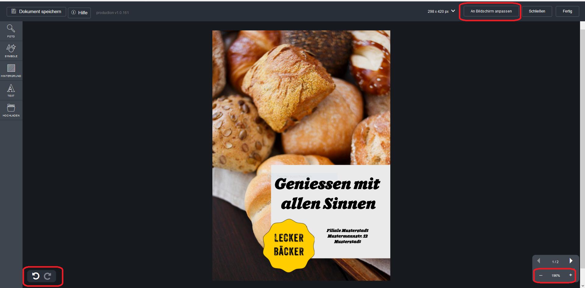Flyer online designen