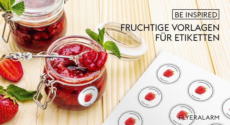 Etiketten-Vorlagen für Marmelade und Süßes