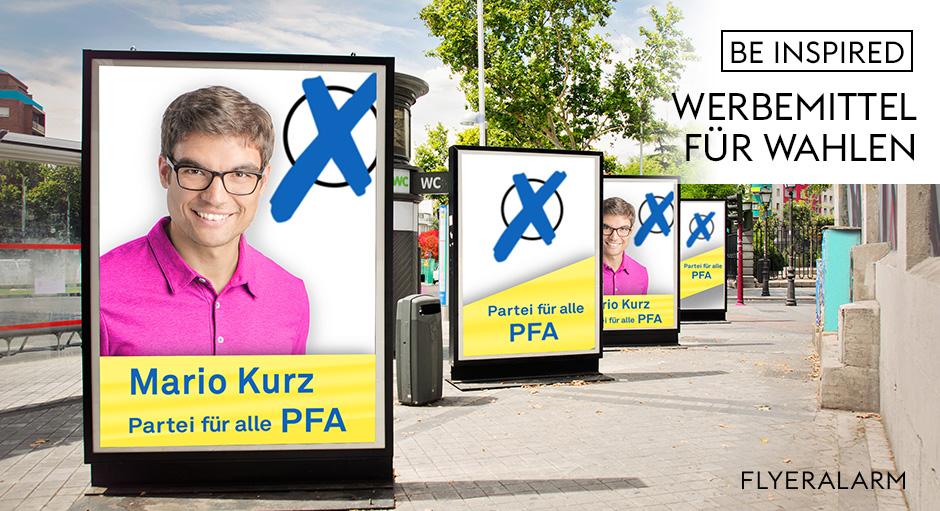 Werbemittel und Druckprodukte für Wahlen