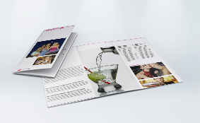 Folded leaflets, 6 pages - design online