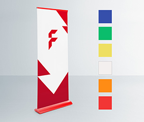 Colour roll-up banners